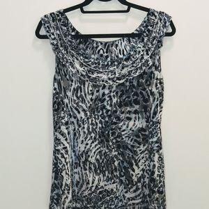 5/$25🌷 NY& Company Black & Gray Leopard Print Top